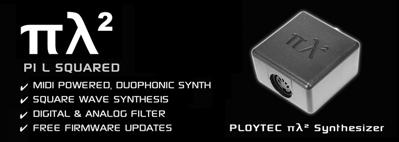 Ploytec PL2 synth demo (square wave synthesis)